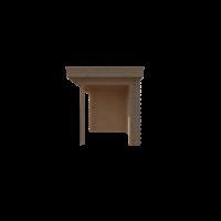DWF Blokhut met overkapping plat dak 350 x 250 + 300cm