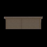 DWF Blokhut met overkapping plat dak 400 x 250 + 300cm