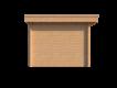 DWF Blokhut met overkapping plat dak 350 x 300 + 400cm