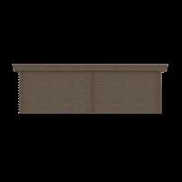 DWF Blokhut met overkapping plat dak 350 x 300 + 350cm