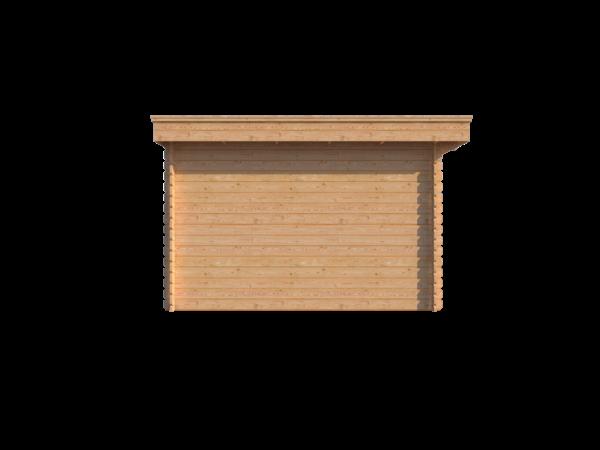 DWF Blokhut met overkapping plat dak 200 x 350 + 300cm
