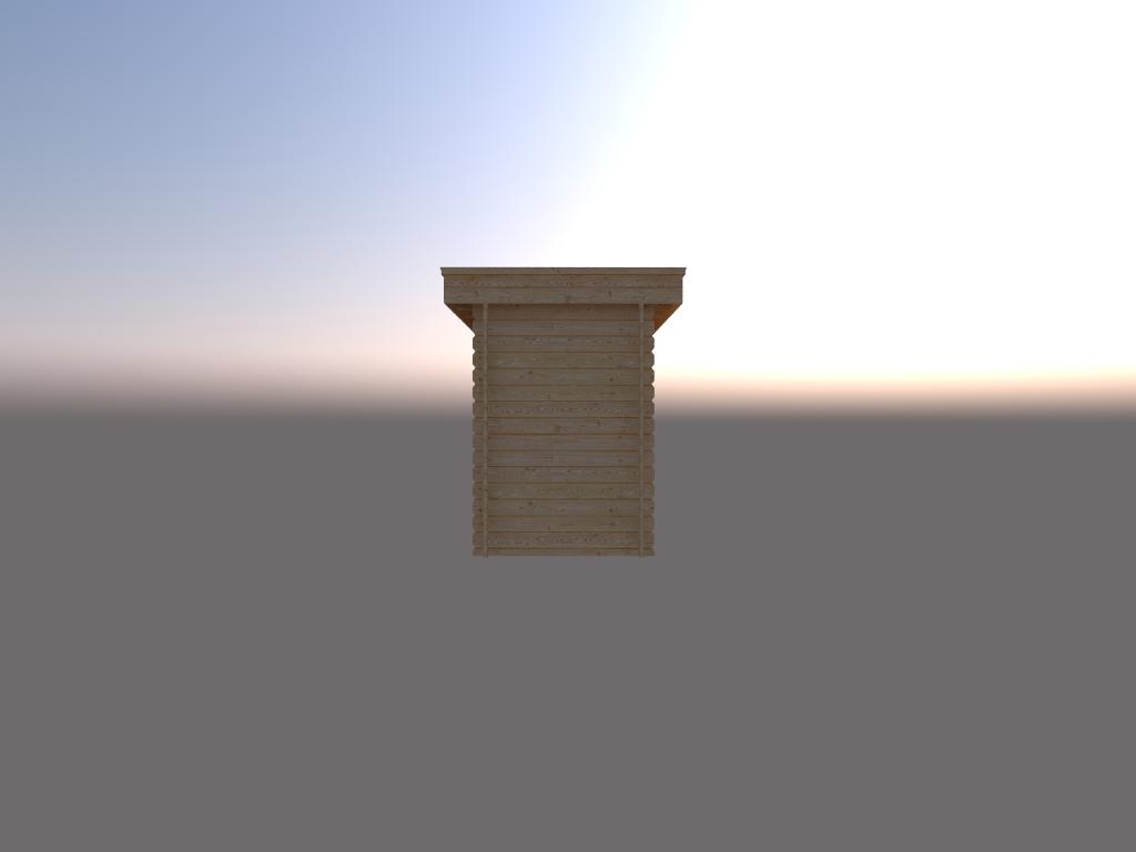 DWF Houten overkapping plat dak 150 x 250cm