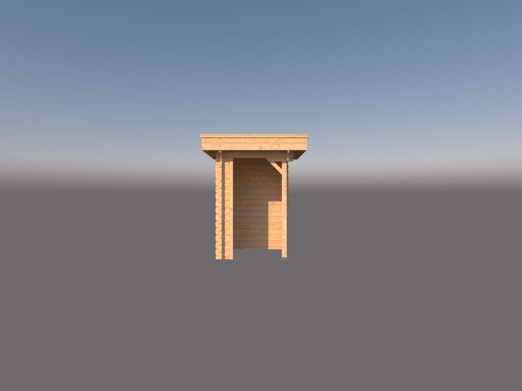 DWF Houten overkapping plat dak 150 x 150cm