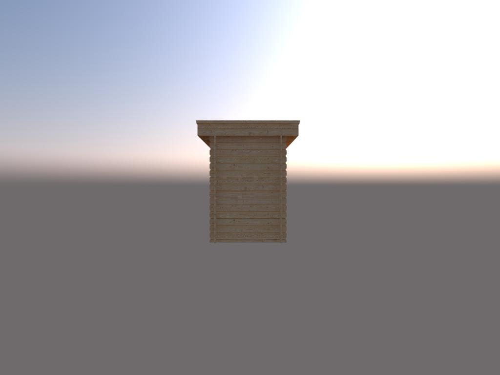 DWF Houten overkapping plat dak 150 x 200cm