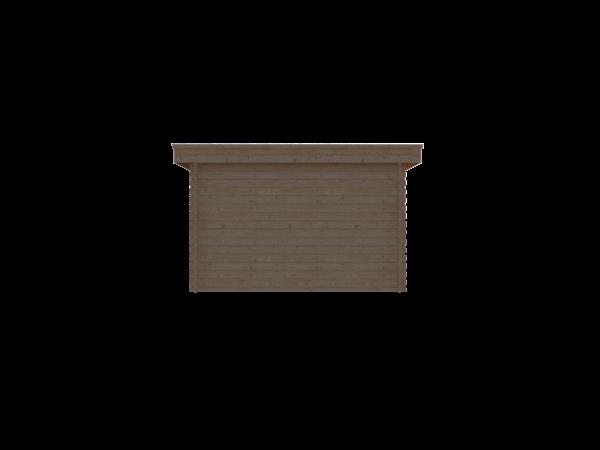 DWF Houten overkapping plat dak 350 x 200cm
