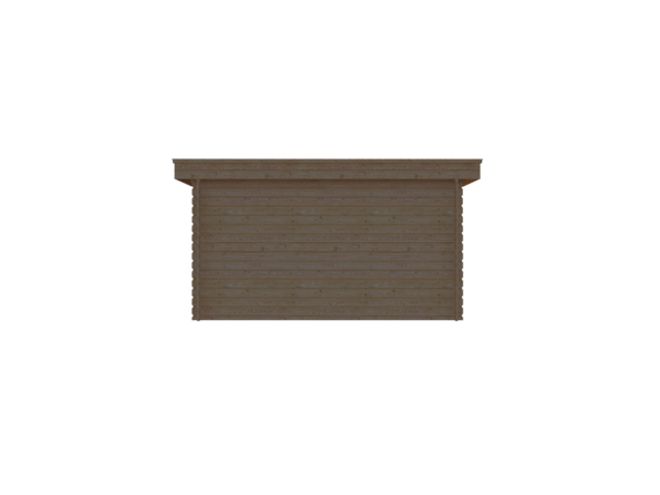 DWF Houten overkapping plat dak 400 x 200cm
