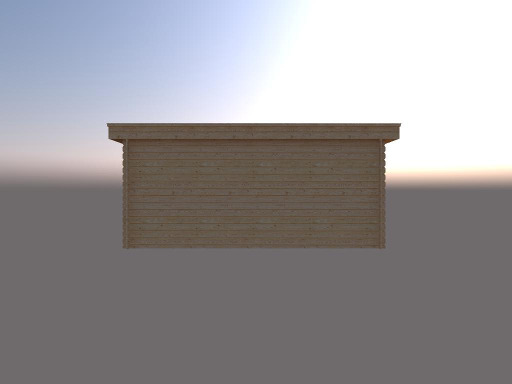 DWF Houten overkapping plat dak 500 x 200cm