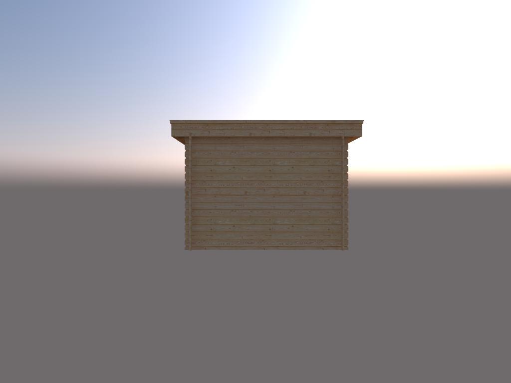 DWF Houten overkapping plat dak 300 x 250cm