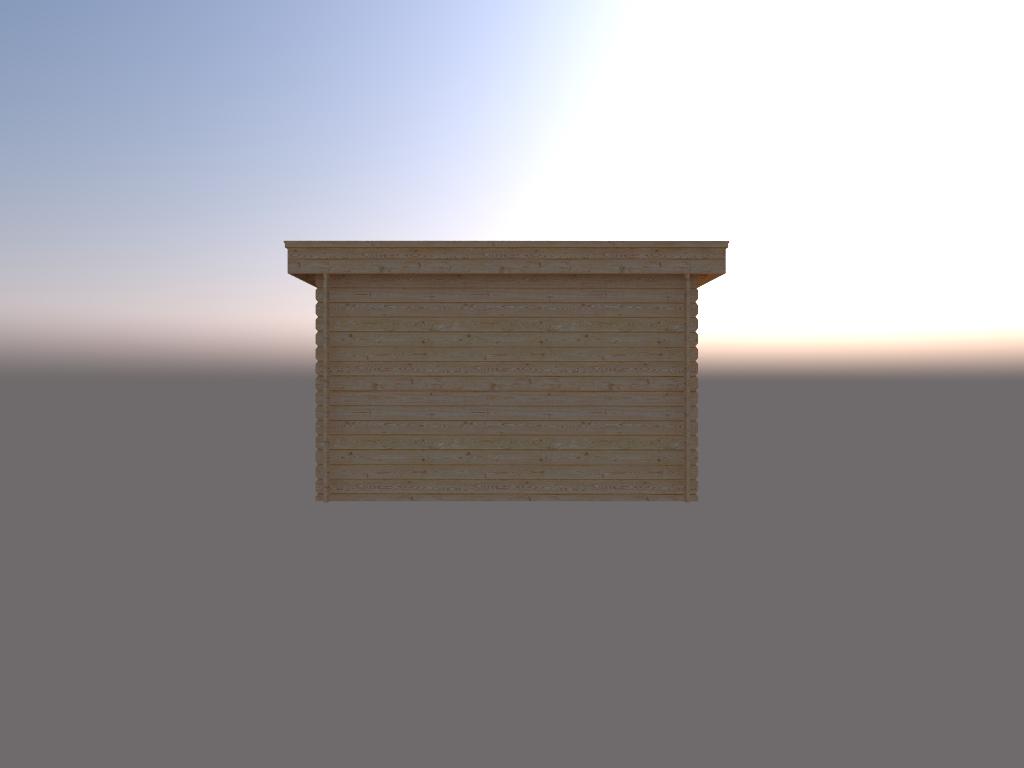 DWF Houten overkapping plat dak 350 x 250cm