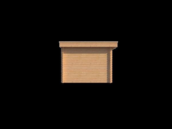 DWF Houten overkapping plat dak 150 x 300cm