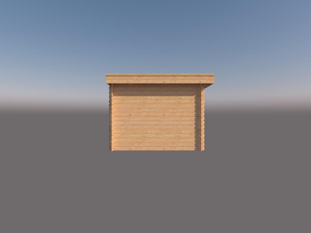 DWF Houten overkapping plat dak 200 x 300cm