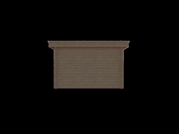 DWF Houten overkapping plat dak 350 x 300cm