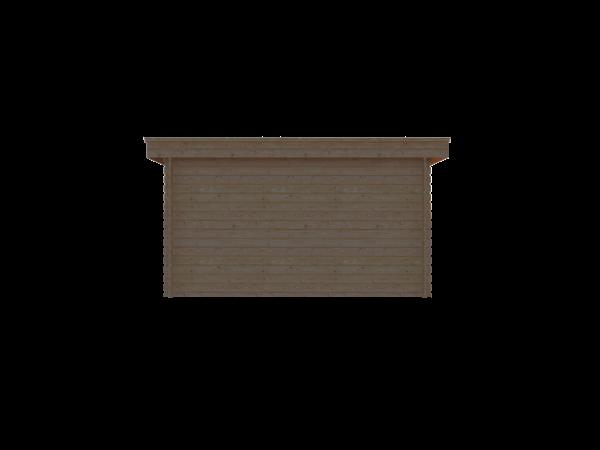 DWF Houten overkapping plat dak 400 x 300cm