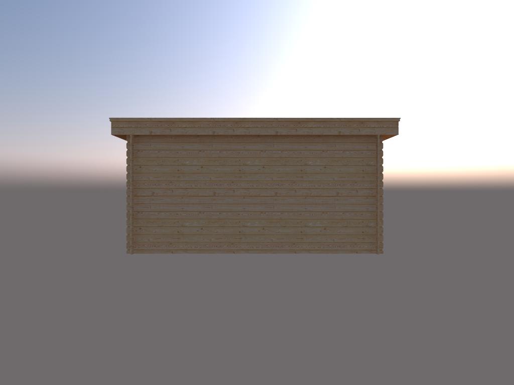 DWF Houten overkapping plat dak 450 x 300cm