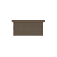 DWF Houten overkapping plat dak 450 x 350cm