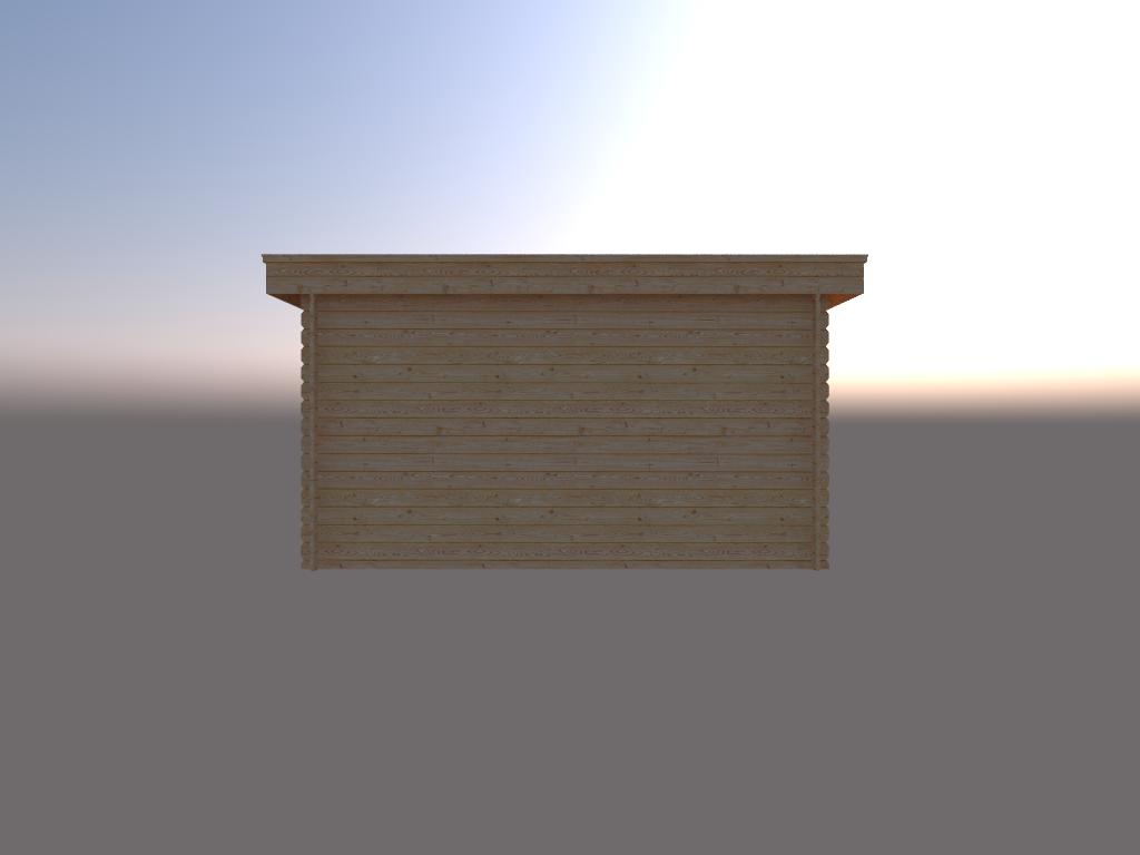 DWF Houten overkapping plat dak 400 x 350cm
