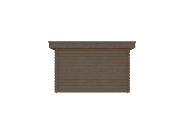 DWF Houten overkapping plat dak 350 x 350cm