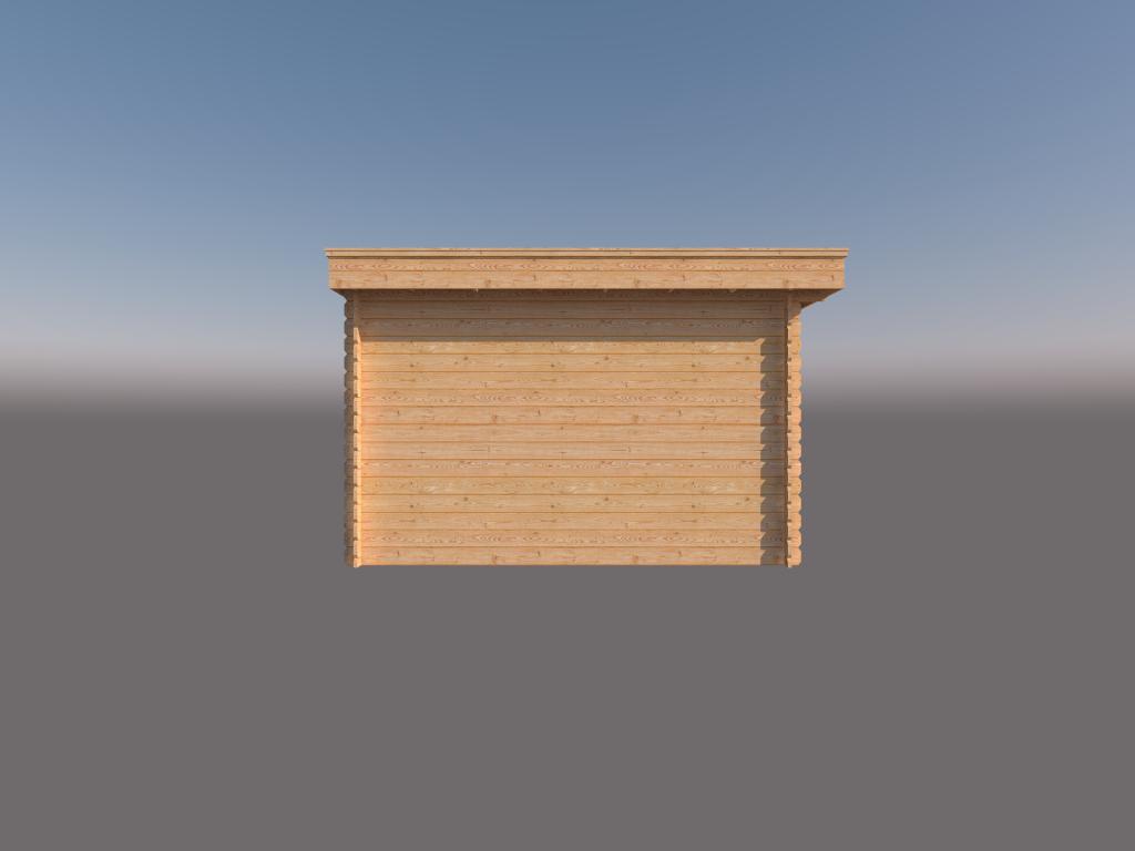DWF Houten overkapping plat dak 300 x 350cm