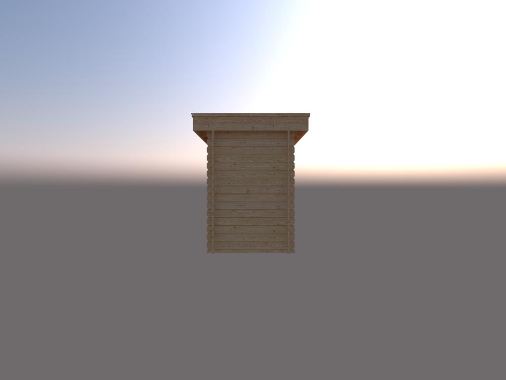 DWF Houten overkapping plat dak 150 x 350cm