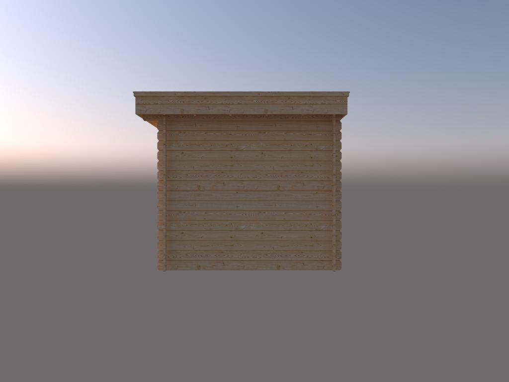 DWF Blokhut plat dak 300 x 250cm