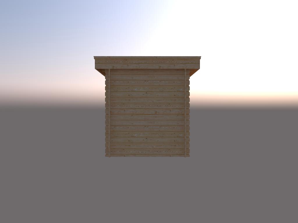 DWF Blokhut plat dak 200 x 200cm