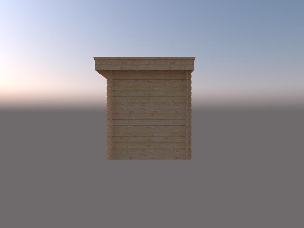 DWF Blokhut plat dak 250 x 200cm