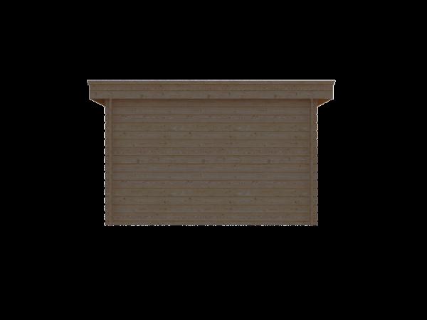 DWF Blokhut plat dak 350 x 200cm