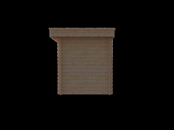 DWF Blokhut plat dak 400 x 200cm