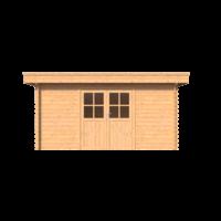 DWF Blokhut plat dak 450 x 200cm