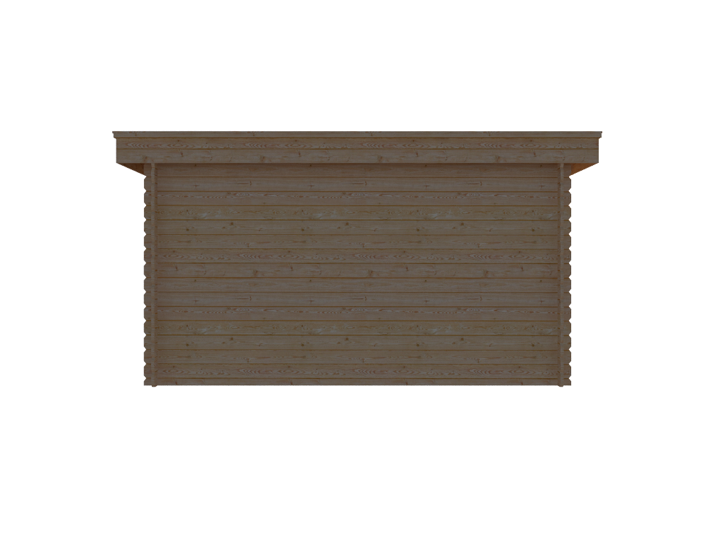 DWF Blokhut plat dak 400 x 250cm