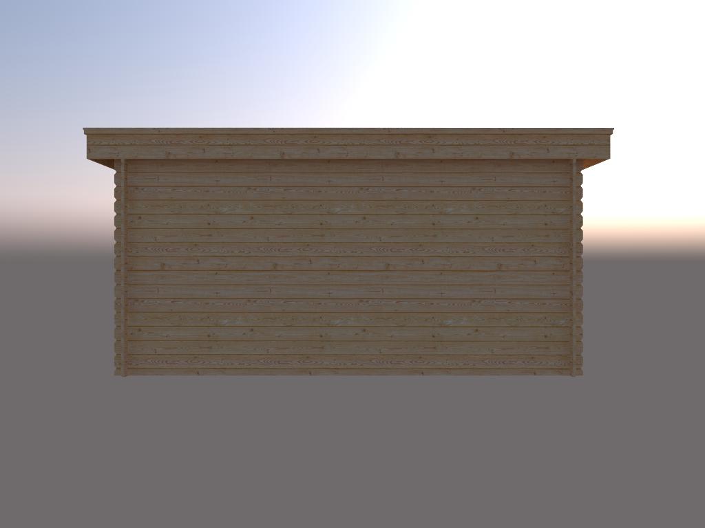 DWF Blokhut plat dak 450 x 250cm