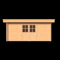 DWF Blokhut plat dak 500 x 250cm