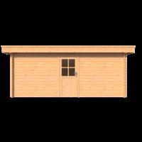 DWF Blokhut plat dak 550 x 250cm
