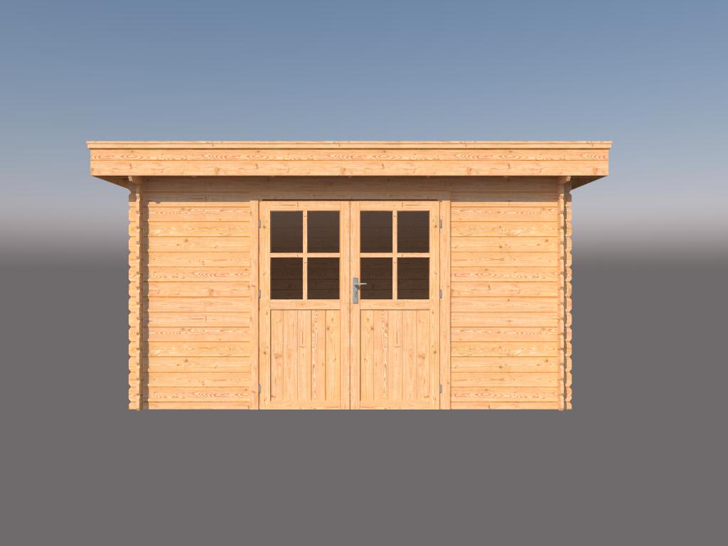 DWF Blokhut plat dak 400 x 300cm