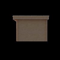 DWF Blokhut plat dak 500 x 300cm
