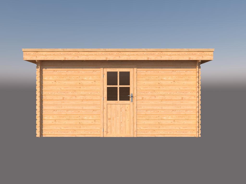DWF Blokhut plat dak 450 x 300cm