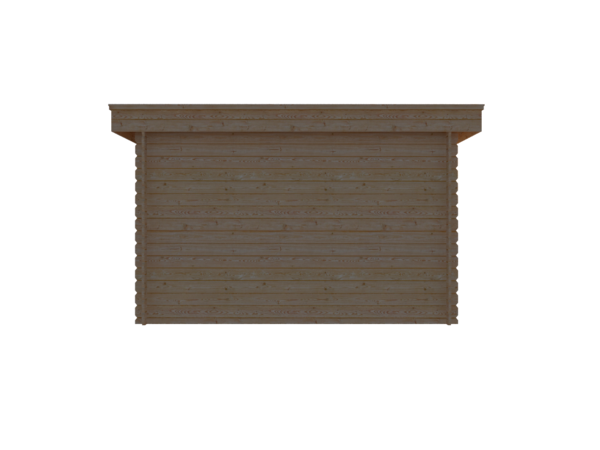 DWF Blokhut plat dak 350 x 300cm