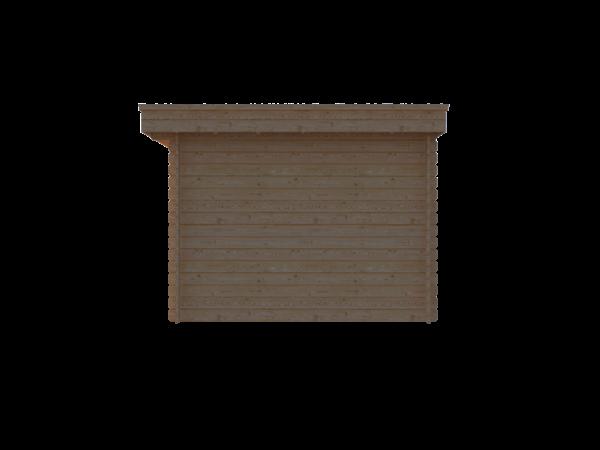 DWF Blokhut plat dak 300 x 300cm