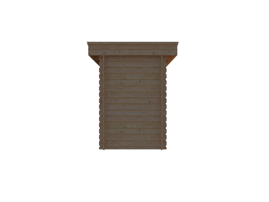 DWF Blokhut plat dak 150 x 350cm