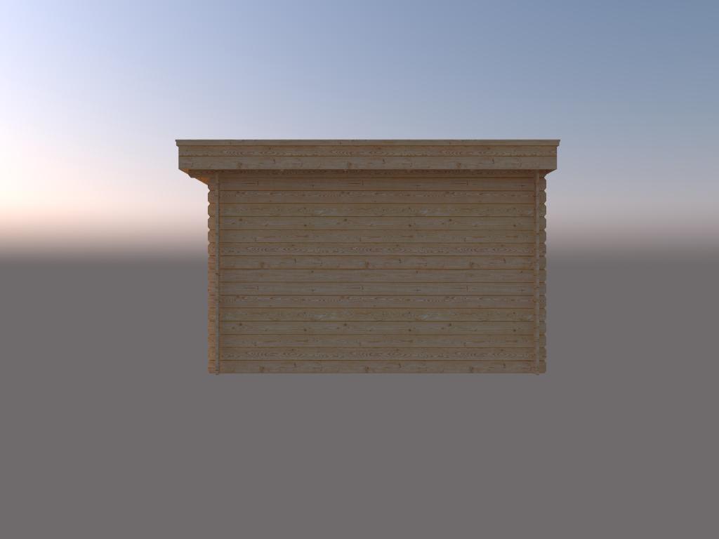 DWF Blokhut plat dak 200 x 350cm