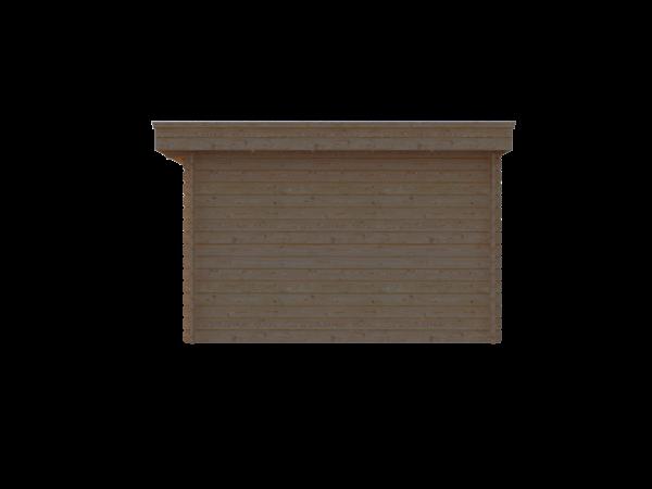 DWF Blokhut plat dak 250 x 350cm