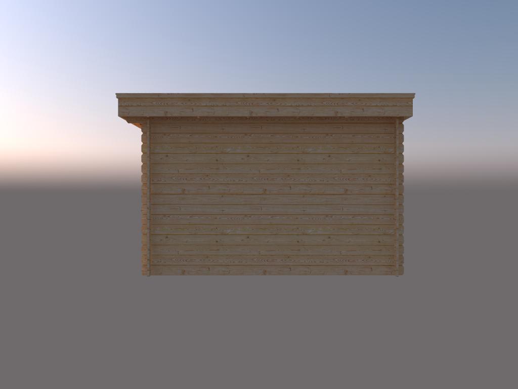 DWF Blokhut plat dak 300 x 350cm