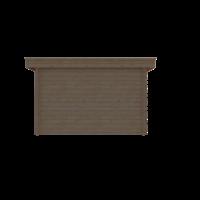 DWF Blokhut plat dak 350 x 350cm
