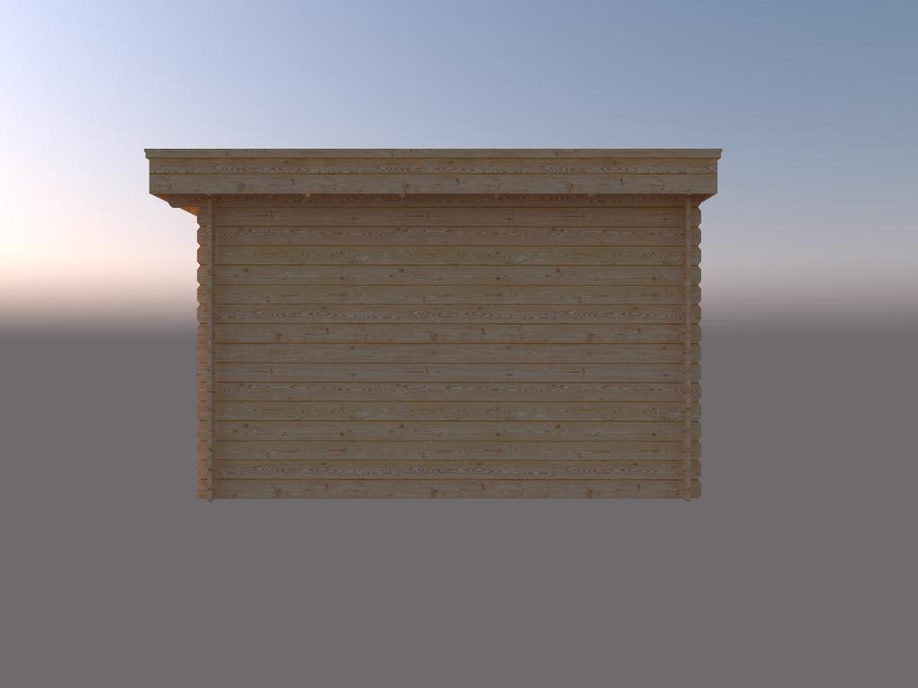 DWF Blokhut plat dak 400 x 350cm
