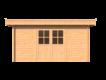 DWF Blokhut plat dak 450 x 350cm