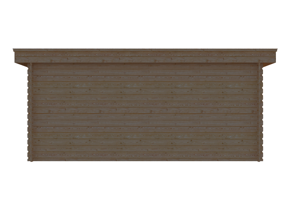 DWF Blokhut plat dak 500 x 350cm