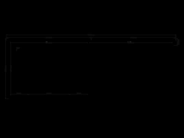 DWF Blokhut met overkapping zadeldak 350 x 250 + 350cm
