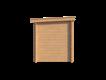 DWF Blokhut met overkapping lessenaar dak 400 x 200 + 400cm