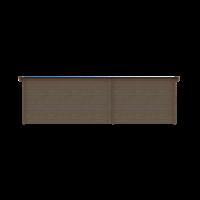 DWF Blokhut met overkapping lessenaar dak 300 x 250 + 400cm