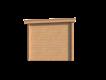 DWF Blokhut met overkapping lessenaar dak 400 x 250 + 350cm